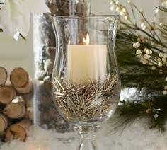 Rustic Christmas Candles - simply break twigs or even cedar branches and place in a glass jar with a candle!  #rustic #christmas #xmas #decorating #vintage