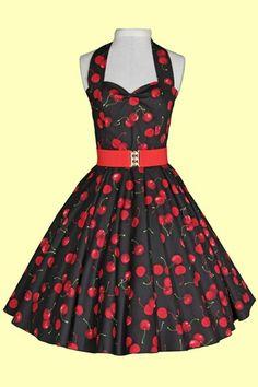 Cherry rockabilly dress