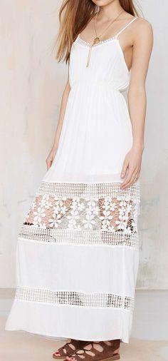 Crochet lace maxi