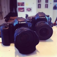 I'm in love with my cameras!! Cannon EOS 7D