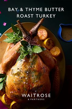 Slowly cooking the turkey with a herby butter over the breast results in tender, flavoursome meat and lovely crisp skin. Tap for the recipe. Xmas Food, Christmas Cooking, Esio Trot, Veggie Recipes, Cooking Recipes, Waitrose Food, Air Fryer Dinner Recipes, Peruvian Recipes, Linoleum Flooring