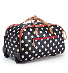 Looking for the perfect gift for a college aged girl?  Look no further than the Hot to Trot Rolling Duffel Bag!  This stylish luggage offers the convenience of a duffel and the ease of a rolling bag.  Take it with you for a weekend vacation or on your next business trip.  This bag pairs timeless sophistication with quality that will not disappoint!