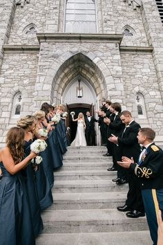 "The Matthew Christopher ""Sofia"" Gown / Ceremony Exit at St. Thomas of Villanova Church"