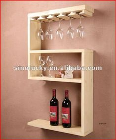 Wine Glass Rack, Wood Wine Racks, Wine Rack Design, Wine House, Bois Diy, Woodworking Projects That Sell, Wine Storage, Wall Shelves, Glass Shelves