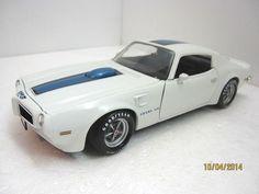 ERTL 1970 Pontiac Trans-Am White Blue Stripes American Muscle 1:18 Scale DieCast #Ertl #Pontiac