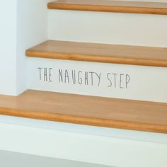 'the naughty step' children's wall sticker by oakdene designs. We love this here at Snugly! Interior And Exterior, Interior Design, Childrens Wall Stickers, Step Kids, Decoration, Kids Room, Sweet Home, New Homes, House Design