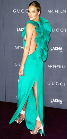 Rosie Huntington-Whiteley attends LACMA Art and Film Gala, Los Angeles, America - 27 Oct 2012