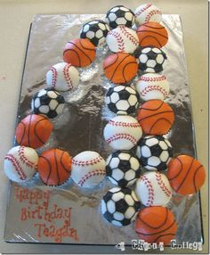 I like this for Logan's birthday... the different sports balls...