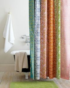 love these colors for my bathroom re-do....Claire Reversible Shower Curtain