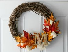 50 Cheap and Easy DIY Fall Decor Ideas You Can't…, autumn diy crafts, Diy Fall Wreath, Autumn Wreaths, Fall Diy, Wreath Ideas, Fall Garland, Fall Crafts, Holiday Crafts, Diy Crafts, Holiday Decor