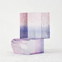 """Following his previous Crystal Series tables, Seoul-based designer Saerom Yoon added dyes directly to transparent acrylic resin to realize once again his mesmerizing pieces of furniture. """"I wanted to make a shape formed purely by color, like painting a watercolor in the air,"""" says the designer. """"I chose transparent acrylic for the work which enables feeling the maximized color without the material property."""" …"""