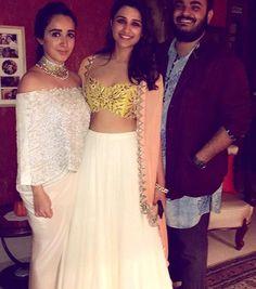 Parineeti # Arpita Mehta # lehenga # cape style # fusion look
