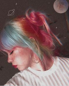 Aesthetic Girl, Dreadlocks, Hair Styles, Beauty, Colorful Hair, Hair Plait Styles, Hair Makeup, Hairdos, Haircut Styles