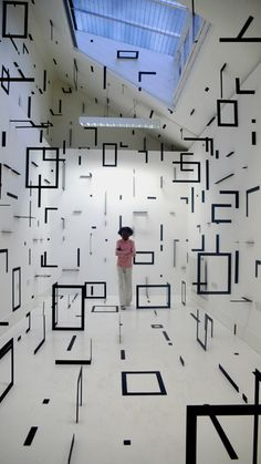 esther stocker - art installation