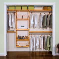 John Louis Home Closet System Finish: Honey Maple