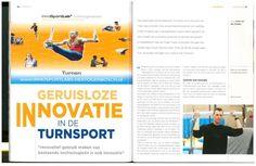 """Fontys Sporthogeschool artikel: Docent Maurice Aarts: """"Geruisloze innovatie in de turnsport"""" : Volledig artikel zie tijdschrift Gymsport.nl 2014 no. 1 Pag. 46-51"""