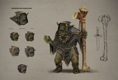 Here is some concept art for the Race of Greenskins. This is not final exact game art, just a behind the scenes Festag treat!