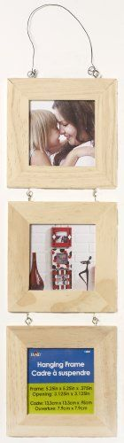 Plaid Triptych Square Hanging Frame, 12881  High quality smooth finish wooden shape  Create unique items for yourself or to give as gifts  Personalize for that perfect gift  Super projects start with super surfaces  The product is of great value
