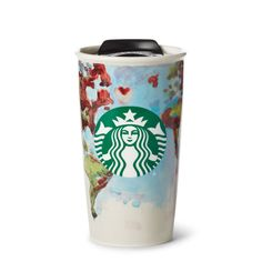 Featuring art by a Starbucks barista and artist, this cup shows how beautiful and colorful our world is.