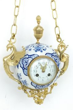 Porcelain Striking Wall Clock