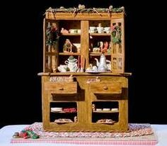 My first entry in the National Gingerbread House Competition 2008- cupboard. 1st place!