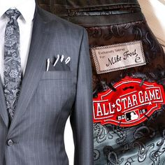#MikeTrout looked like an #allstar in his #EleveeOriginal suit jacket. #MLB