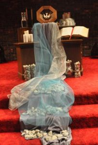 """Celebrating All Saints Day with a """"river"""" from the altar. Wonderful worship idea from a Methodist church."""