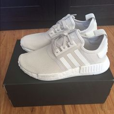 Adidas NMD R1 Talc/Off White Womens 8 Mens 6.5 BNWB/ Authentic TAKING OFFERS! I HAVE RECEIPT SHOWING Authentic Adidas Shoes Sneakers adidas shoes - http://amzn.to/2hreaYz