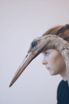 """Name: """"Me With A Stuffed Stork"""" • Year: Unknown • Photographer: Daina — """"Me With A Stuffed Stork. Photo Taken by Daina"""" by Jula Mint, Tumblr (Retrieved: 22 January, 2013)"""