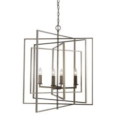 This striking, 4 light pendant captures a traditional design and infuses it with modern elegance. Finished in satin nickel, the simplicity of the candles clustered together in a white alabaster cube, showcases an eclectic piece, suitable for any decor. Lantern Chandelier, Rectangle Chandelier, Candelabra Bulbs, Chandelier Lighting, Interior Lighting, Home Lighting, Modern Lighting, Dining Room Lighting, Traditional Design
