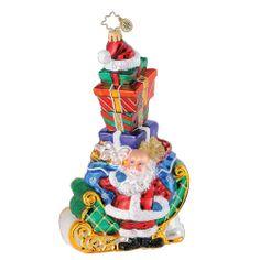 Image detail for -... Radko Ornaments > Sleighful Hat Trick - Christopher Radko Ornament