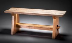 "Japanese Garden Bench | Japanese Bench - Solid Curly Maple Standard size: 42"" long x 14 ..."