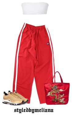 """""""wanna talk? """" by bananbebe ❤ liked on Polyvore featuring Vivienne Tam, Jade Swim and NIKE"""