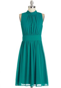 Windy City Dress in Teal. The Windy City Dress is back and better than ever! #green #wedding #bridesmaid #modcloth