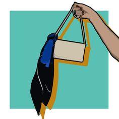 Como amarrar lenços na bolsa e ganhar um novo acessório (Foto: Arte Vogue Online)