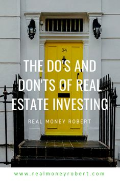 Real Estate investing can bring in some great income if done correctly! Here, Alex shares his do's and dont's of real estate investing. Real Estate Rentals, Real Estate Companies, Real Estate Marketing, Financial Information, Financial Tips, Sell Your House Fast, Investment Property, Rental Property, Best Investments