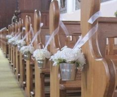 Wedding ivory rose pew ends church décor by ARTIFICIALBOUQUETS, £12.99