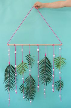 palm frond wall hanging