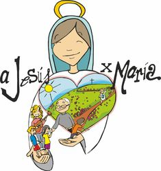 Jesus Cartoon, Sunday School Crafts For Kids, Religion Catolica, Mama Mary, Catholic Kids, Blessed Mother Mary, Bible Crafts, God Loves Me, Bible Stories