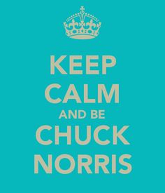 Oh yeah.    ... and why do I not have a Chuck Norris category?