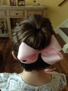 Little girl hair:) #sockbun