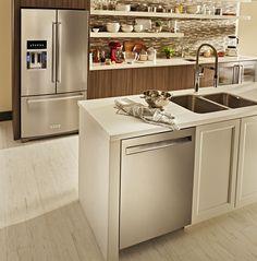 KitchenAid® 26.8 Cu. Ft. Stainless Steel with PrintShield™ Finish French Door Refrigerator-KRFF507HPS | Boulevard Home Furnishings