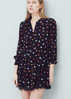 Printed flared dress - Dresses for Women | MANGO USA