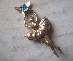 Vintage Coro Ballerina Brooch Pin