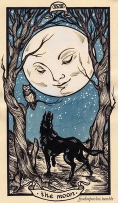 Card of the Day - The Moon - Sunday, August 27, 2017