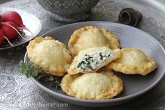 These cheese turnovers are a specialty of a region in the North of Lebanon; stuffed with a type of ricotta cheese and lots of herbs.  Check out more delicious Lebanese Recipes with Al Wadi Al Akhdar!
