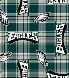Philadelphia Eagles NFL Plaid Fleece Fabric