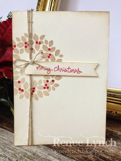 By Renee Lynch, Twelve days of Christmas, Stampin' Up! (note: Alter for Valentine's Day) Diy Christmas Cards Stampin Up, Homemade Christmas Cards, Christmas Cards To Make, Xmas Cards, Christmas Greetings, Homemade Cards, Stampin Up Cards, Handmade Christmas, Holiday Cards