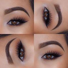 Lash Focus by ✨@dlishhhhh✨ using our #boudoirlashes  Brows| @anastasiabeverlyhills #dipbrow in medium brown  Eyes| @makeupgeekcosmetics  Lashes| @houseoflashes in Boudoir  #houseoflashes #dlishhhhh #boudoir #browneyes #wingedliner #browsonpoint