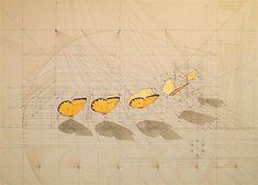 Rafael Araujo. Calculation (Sequence) # 2 Acrylic, china ink/ canvas 100x150cms.
